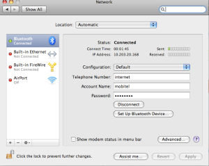 Mac omrežne nastavitve za Nokia E66