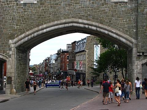 Skozi obzidje v stari Québec