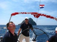 Sailing around the Apple island